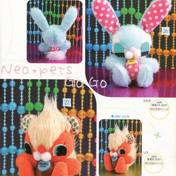 Fluffy Bunny and Squirrel Plush Sewing Pattern PDF