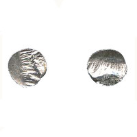 Tiny Sterling Silver Circle Post Earring