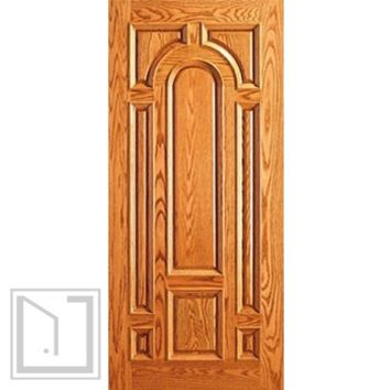 Entry Mahogany Wood 8 Panel Raised Moulding Single Door