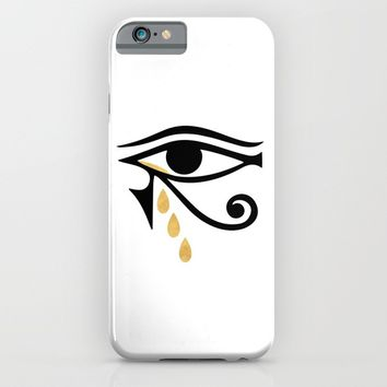 ALL SEEING CRY - Eye of Horus iPhone & iPod Case by deificus Art