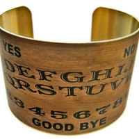 Ouija Board vintage brass cuff. - Whimsical & Unique Gift Ideas for the Coolest Gift Givers