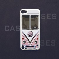 Apple IPOD touch 5 tough CASE VW Minibus Pink 5TH GEN Cover Designer Unique Cute BE...