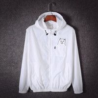 Ripndip Cat fashion Hooded Zipper Cardigan Sweatshirt Jacket Coat Windbreaker Sportswear