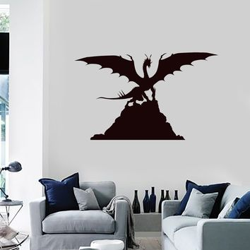Vinyl Wall Decal Dragon Silhouette Fantasy Art Kids Room Decoration Stickers Mural (ig5399)