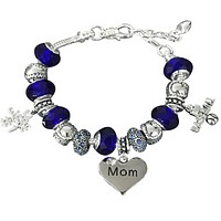 Baseball Mom Beaded Bracelet