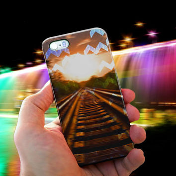 Glittery Sunset Chevy Case For iPhone 5, 5s, 5c, 4, 4s and samsung galaxy S3, S4, S5, Note 2, Note 3