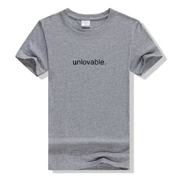 unlovable letter print funny t shirt street style women unisex tshirt lover hype tee tumblr graphic Girl female t-shirt Tops tee