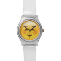 White Smiling Face Emoji Watch