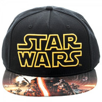 Star Wars Episode 7 Poster Main Logo Sublimated Snapback Hat