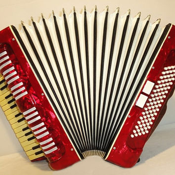 Accordion  Klingenthal  80 bass 7 switch  German Piano Accordion Musical Instrument 1
