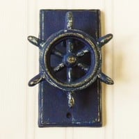 Cast Iron Ships Wheel Door Knocker - Choose Your Color - Colorful Cast and Crew