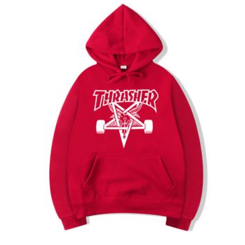 THRASHER flame men and women long sleeve sets
