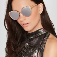Jimmy Choo - Cat-eye rose gold-tone sunglasses