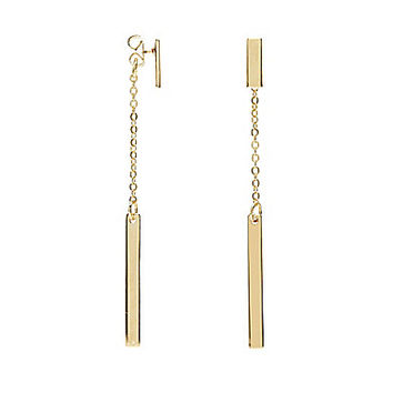 Anna & Ava Delicate Chain Stick Drop Earrings - Gold
