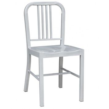 US Navy Dining Chair - Silver - Reproduction | GFURN