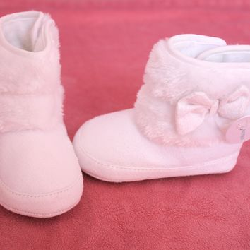 Baby Girl White Winter Boots