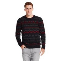 Men's Varsity Crew Sweater Deep Red - Mossimo Su... : Target