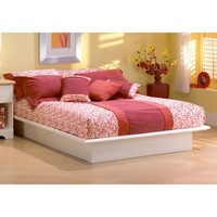 Step One Low Profile Platform Bed in White