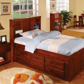 Ferguson Twin Size Bookcase Captain's Bed