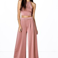 Aziza Wide Leg Trouser and Crop Top Co-ord Set