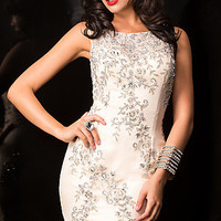 Short High Neck Homecoming Dress by Scala