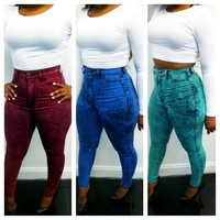 Boutique on the Go — Colored High-Waist Jeans
