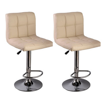 2 PC Leather Swivel Office Computer Desk Chair