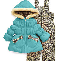 Pink Platinum Kids Outerwear, Little Girls or Toddler Girls Animal-Print Snowsuit