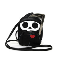 Grim Reaper Death with Scythe Cross Body Bag Purse