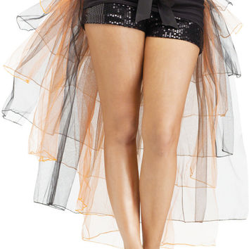 costume accessory: petticoat tutu bustle skirt | orange