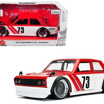 1973 Datsun 510 Widebody #73 Red \JDM Tuners\ 1:24 Diecast Model Car Jada