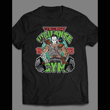 "TEENAGE MUTANT NINJA TURTLES PARODY ""VIGILANTE GYM"" SHIRT"