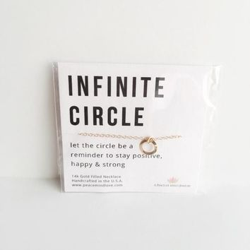 Infinite Circle  Handmade 14k Gold Filled Necklace