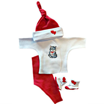 Kitten Love Baby Girl's Clothing Set