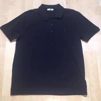NWOT Versace Collection Navy Embroidered Logo Mens Polo Shirt sz X-Large