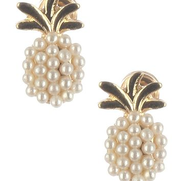 Mini Pearl Cluster Pineapple Earrings