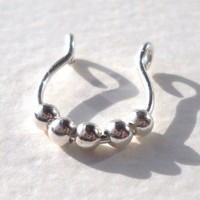 925 Sterling Silver Septum Nose Ring Cuff