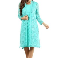 Short Plus Size Mother of the Bride Long Jacket Dress