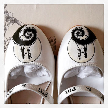 The Nightmare Before Christmas handpainted Wedding Shoes