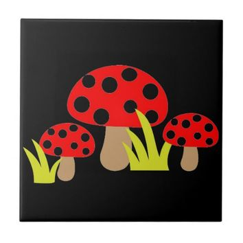Mushrooms Tile