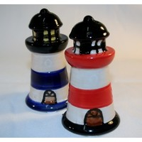 Seaside Selections - Lighthouse salt & pepper shaker set