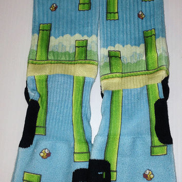 Custom Flappy Birds nike elite crew socks