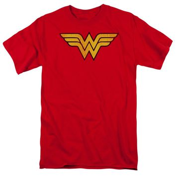 Wonder Woman Logo Dist Short Sleeve Adult 18/1