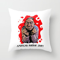 AMERICAN HORROR STORY | BLOOD SPATTER | PEPPER Throw Pillow by Silvio Ledbetter