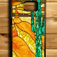 Cactus Stained Glass Samsung Galaxy S6 Edge Case