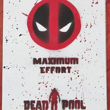 dead pool poster,not art print,dead pool art,superhero poster,marvel comics wall art,the avengers,gift for him,superhero wall art,painting
