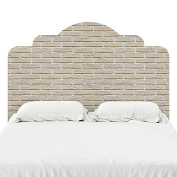 Cream Brick Headboard Decal