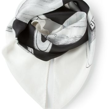 Soulland 'Hadfield' printed scarf