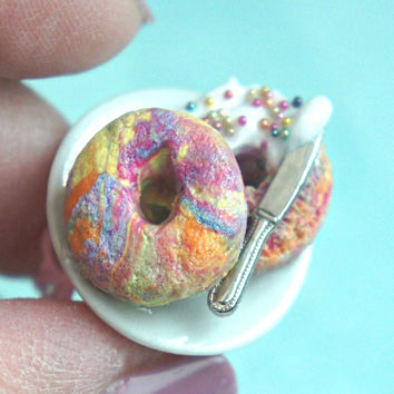 Rainbow Bagel Ring