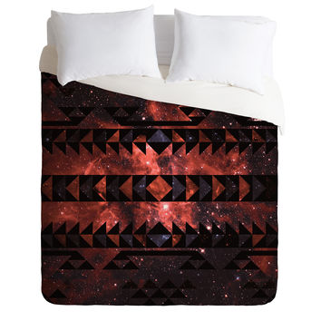 Caleb Troy Rusted Galaxy Tribal Duvet Cover